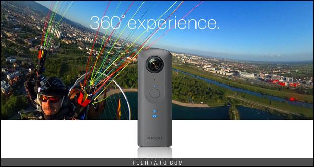 دوربین 360 درجه تتا وی ریکو با کیفیت بالای 4K معرفی شد