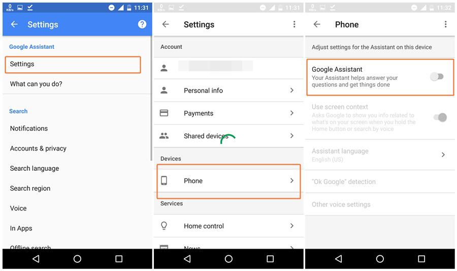آموزش غیرفعال کردن دستیار گوگل در گوشیهای اندروید