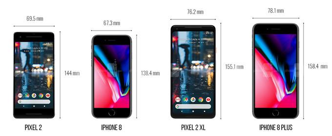 گوگل پیکسل 2 و پیکسل 2 ایکس ال در مقابل آیفون 8 و آیفون 8 پلاس