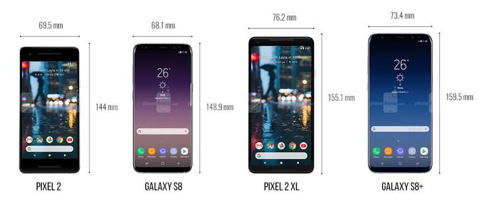 گوگل پیکسل 2 و پیکسل 2 ایکس ال در مقابل گلکسی اس 8 و گلکسی اس 8 پلاس