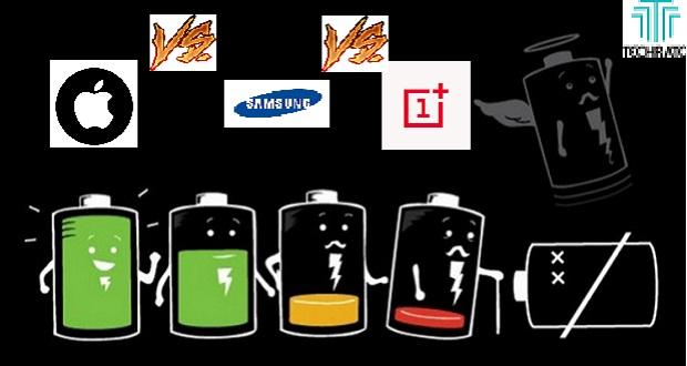 مقایسه عملکرد باتری گوشیهای آیفون 7، آیفون 8، آیفون 8 پلاس، گلکسی اس 8 پلاس و وان پلاس 5