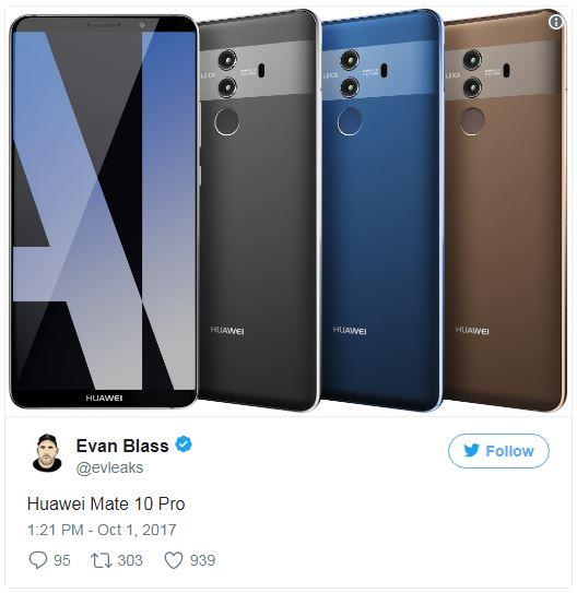 طراحی زیبای گوشی هواوی میت 10 پرو