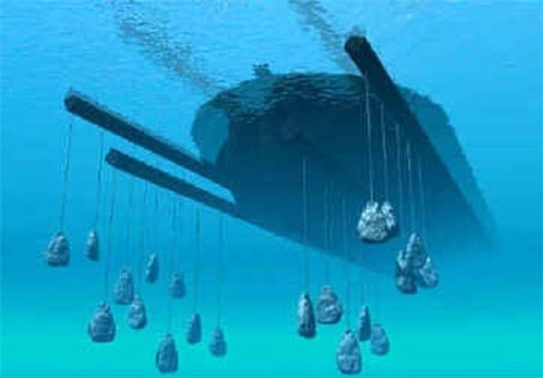 سنگ های لنگر به دست آمده در کشف کشتی نوح