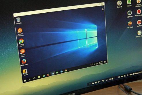 اجرای ویندوز ۱۰ در محیط سامسونگ Dex امکان پذیر شد