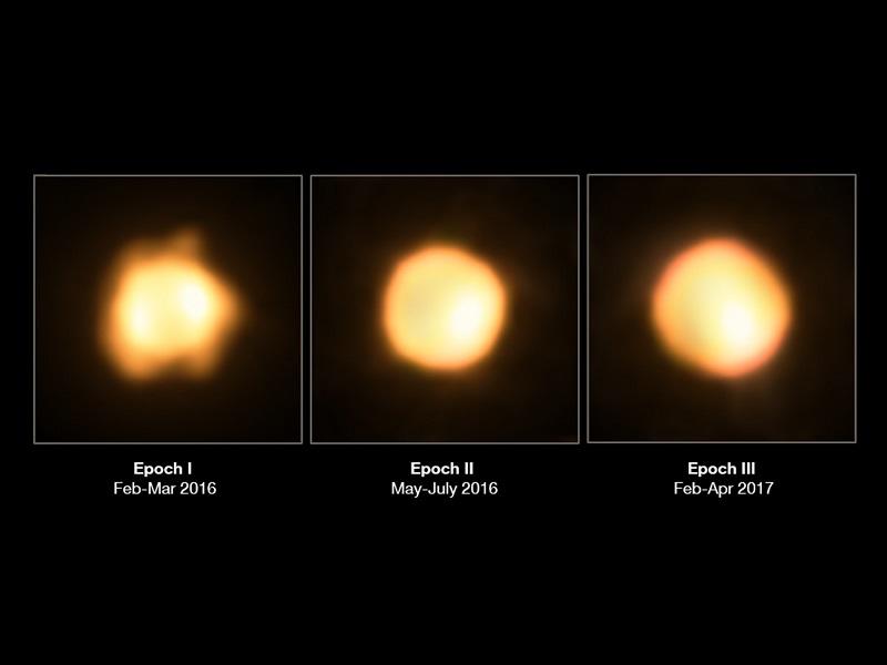 این ستاره بزرگ نارنجی، V766 Centauri است که در اینجا با ستاره همراه خود دیده می شود. این ستاره با اندازه ای 1400 برابر بزرگ تر از خورشید ما، یکی از بزرگ ترین ستاره هایی به شمار می رود که تاکنون شناخته شده است. این عکس نشان می دهد که این راکتور، در حال حاضر یک ستاره عظیم قرمز تکامل یافته است که به زودی به یک غول زرد بزرگ تر تبدیل خواهد شد.