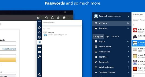 افزونه وان پسورد در دسترس کاربران مرورگر مایکروسافت اج قرار می گیرد
