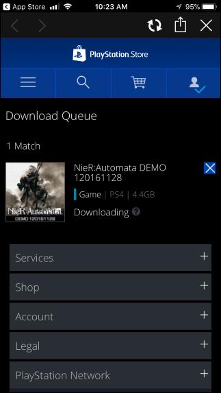 """همچنین با لمس آیکان حسابتان و انتخاب گزینهی """"Download Queue"""" میتوانید به صف دانلودهایتان رفته و وضعیت دانلود بازیها را بررسی کنید. شما حتا میتوانید با فشردن گزینهی """"X"""" دانلود مورد نظرتان را از راه دور متوقف کنید."""