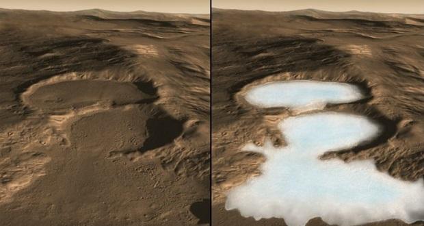 آیا مریخ باستانی همزمان آب مایع و یخ داشته است؟
