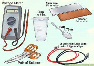 ساخت باتری با آب نمک