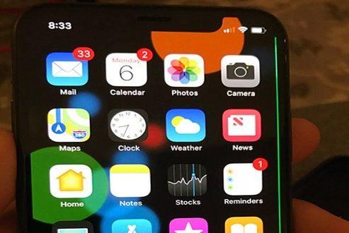 خط سبز عجیبی که روی صفحه نمایش آیفون ۱۰ ظاهر شد