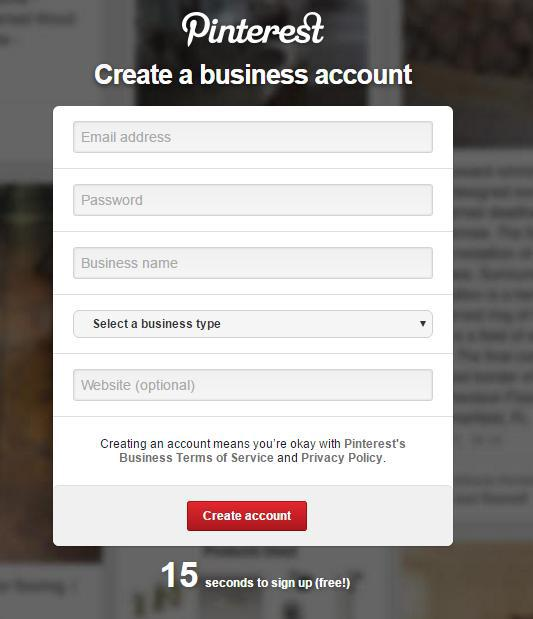 آموزش ساخت حساب کاربری پینترست
