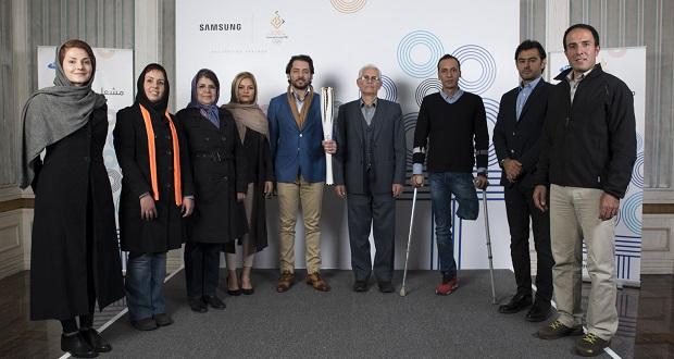 حمل مشعل المپیک زمستانی 2018 با حضور ستارگان ایرانی