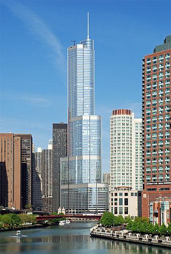 20. برج و هتل بینالمللی ترامپ در شیکاگو، آمریکا