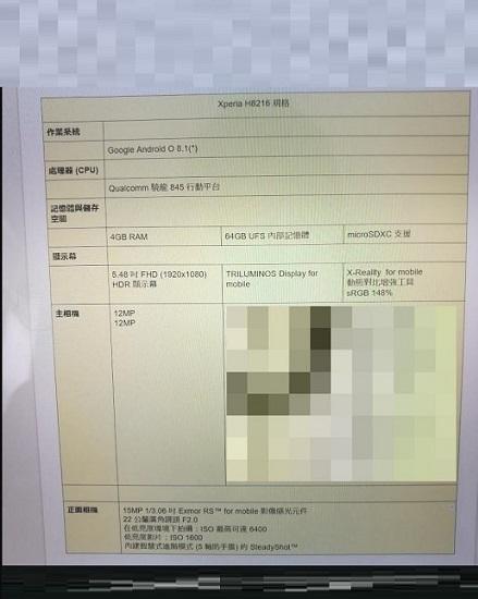 مشخصات سونی اکسپریا ایکس زد 2