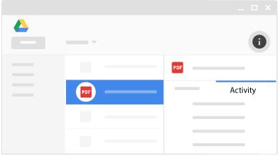 مشاهده تغییرات گوگل درایو