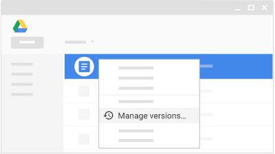 تغییر فایل در گوگل درایو