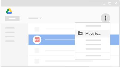 انتقال فایل به فولدر گوگل درایو