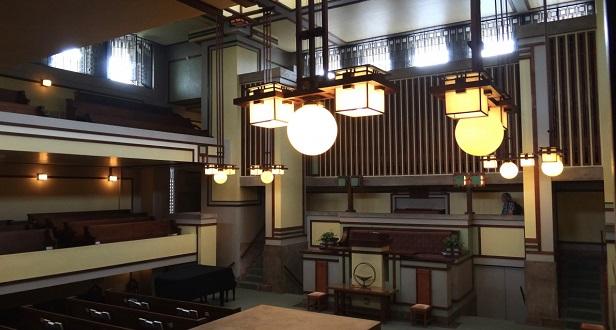 یکی از بهترین ساختمانهای ساخته شده توسط معروفترین معمار آمریکا که برای کسب عنوان میراث جهانی یونسکو نامزد شده، معبد یونیتی (Unity Temple) نام دارد که در ایلینوی آمریکا قرار دارد، این اثر سبک معماری کلیسا را تغییر داد و به گفتهی واگنر، برخلاف قواعد معماری پیشین برای ساخت کلیسا ساخته شده است.