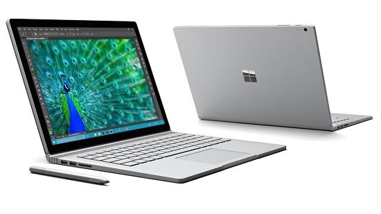 بهترین لپ تاپ برای دانشجویان رشته طراحی و کاربران علاقمند به فوتوشاپ: مایکروسافت سرفیس بوک (Microsoft Surface Book)