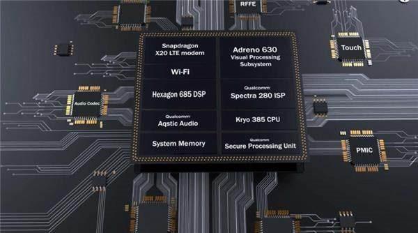 چیپست Snapdragon 845 دارای پردازنده مرکزی کریو 385 با چهار هسته Cortex A75 و چهار هسته Cortex A55 است.