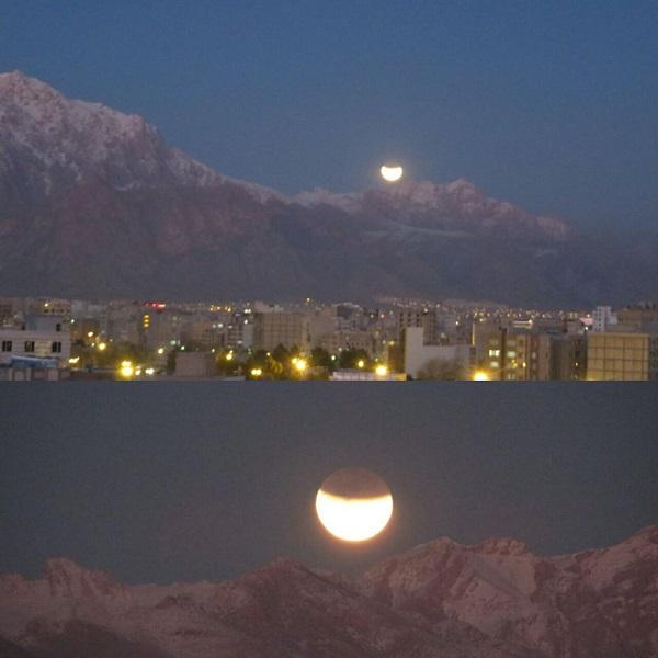 ماه گرفتگی ۱۱ بهمن کرمانشاه