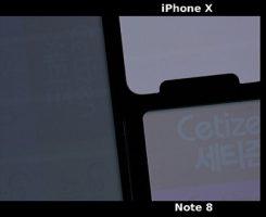 سوختن صفحه نمایش آیفون X و مقایسه آن با نمایشگر گلکسی اس ۷ و گلکسی نوت ۸