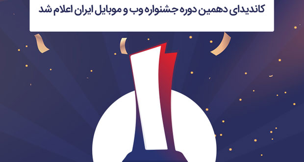 لیست کاندیدای دهمین دوره جشنواره وب و موبایل ایران اعلام شد!