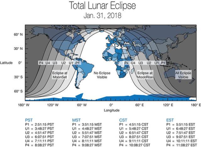 نقشه ماه گرفتگی ۱۱ بهمن
