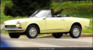 پرفروشترین خودروهای رودستر تاریخ : فیات 124 اسپایدر