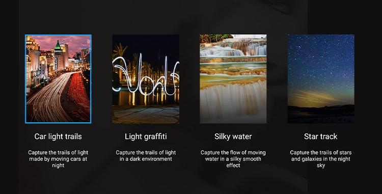یکی از ویژگیهای جالبی که در اپلیکیشن دوربین هواوی آنر 9 دیده میشود، حالت نقاشی با نور یا نقاشی نوری (ight painting) است