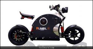 رامبل ای بایک (Rumble e-bike)، کافه ریسر برادران خادمی با شعاع حرکت ۱۰۰کیلومتر