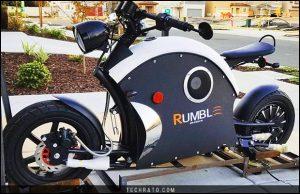؛وتورسیکلت رامبل ای بایک اولین کافه ریسر الکتریکی