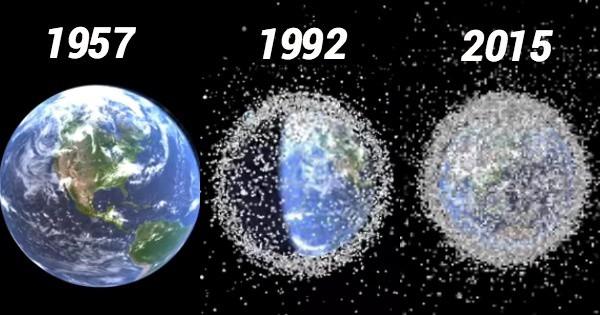 وسعت زبالههای فضایی