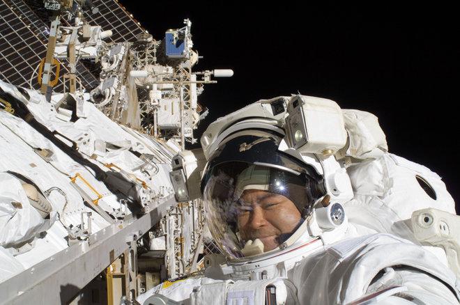 فضانورد ژاپنی در ایستگاه فضایی