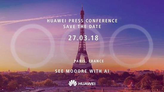 دعوتنامه هواوی برای رویداد پاریس
