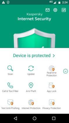 ۱. Kaspersky Mobile Antivirus