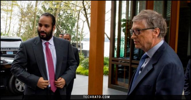 دیدار محمد بن سلمان ولیعهد عربستان با بیل گیتس در سیاتل