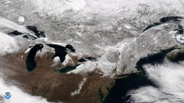 پوشش برف در آمریکا