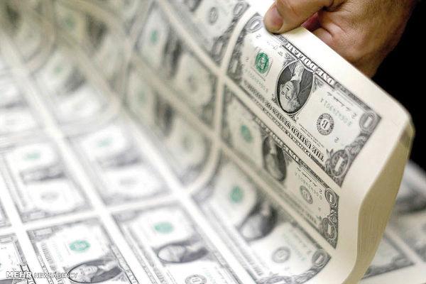 تولید انبوه اسکناس های دلار