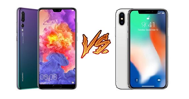 مقایسه هواوی پی ۲۰ پرو با آیفون X اپل ؛ نبردی بین بزرگان صنعت موبایل
