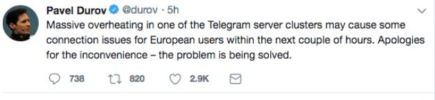 اختلال در تلگرام ؛ تلگرام را ایران فیلتر کرده یا دوروف؟