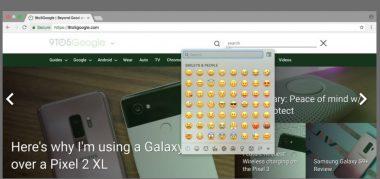 استفاده از ایموجی در گوگل کروم دسکتاپ!