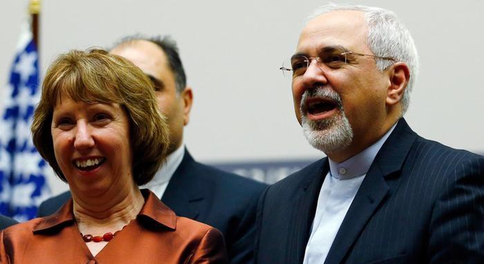 محمد جواد ظریف، وزیر امور خارجه ایران و کاترین اشتون