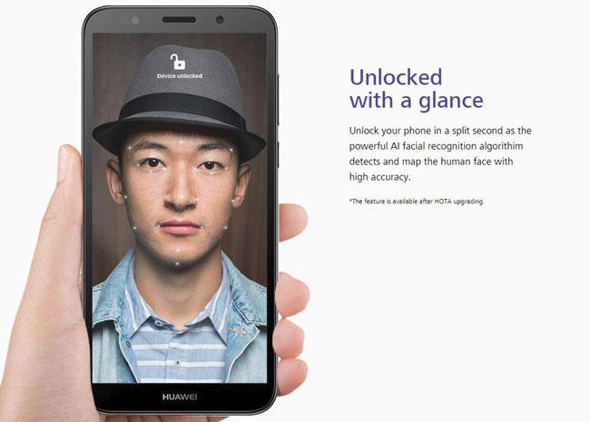 هواوی وای 5 پرایم از ویژگی Face Unlock (باز کردن قفل دستگاه با شناسایی چهره) برخوردار خواهد شد که البته از طریق یک آپدیت نرمافزاری در دسترس کاربران قرار خواهد گرفت.