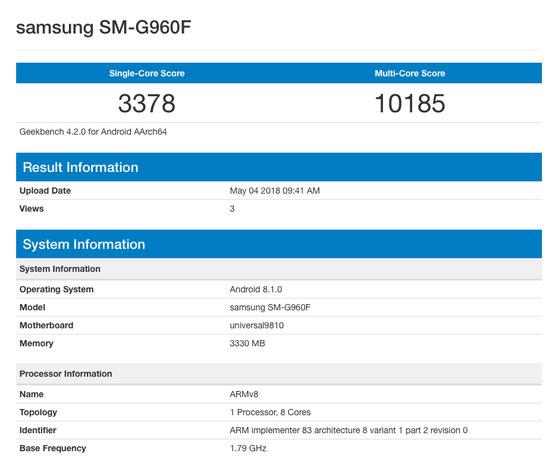 گفته میشود گوشیهای سامسونگ گلکسی اس 9 و اس 9 پلاس در آیندهای نزدیک، سیستم عامل اندروید 8.1 را دریافت خواهند کرد. بهتازگی مشخصات این موبایل با اندروید 8.1 در بنچمارک گیکبنچ رویت شده است.
