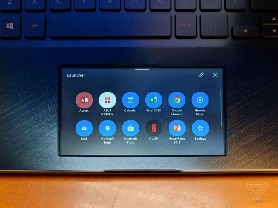 لپ تاپ با نمایشگر لمسی زیر کیبورد