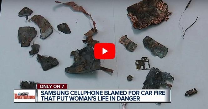 یک گوشی سامسونگ منفجر شد و خودرو را به آتش کشید
