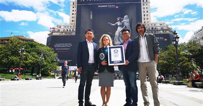 بزرگترین بیلبورد تبلیغاتی جهان به نام هواوی ثبت شد ؛ هواوی در گینس