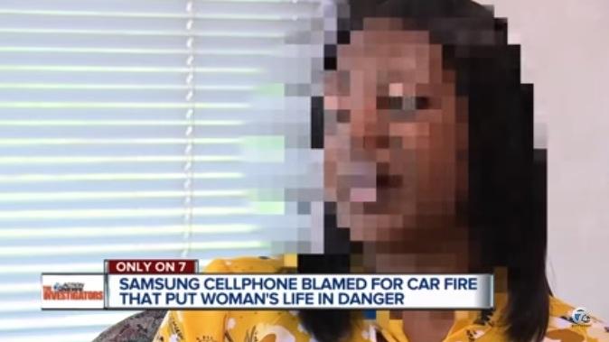 ظاهرا زنی که دچار این حادثه شده در روز 21 مه از دیتروت آمریکا در حال سفر با خودروی شخصی بوده و یک گوشی سامسونگ گلکسی اس 4 و یک سامسونگ گلکسی اس 8 را در محل نگهداری لیوان خودرو قرار داده بوده است.