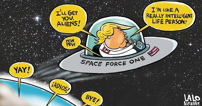 نیروی فضایی آمریکا ؛ دستور ترامپ برای تشکیل شاخه ششم ارتش آمریکا